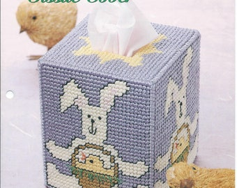 Plastic Canvas Easter Bunny Tissue Box Cover Plastic Canvas Patterns
