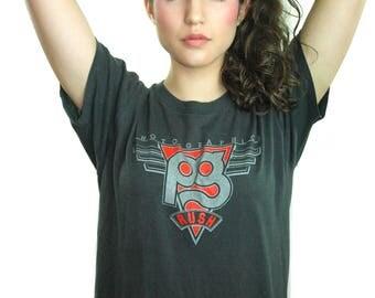 Vintage RUSH shirt 1980s Concert shirt Band Tee Queen guns n roses Metallica Led Zeppelin Grateful Dead Hippie Bohemian Rocker L