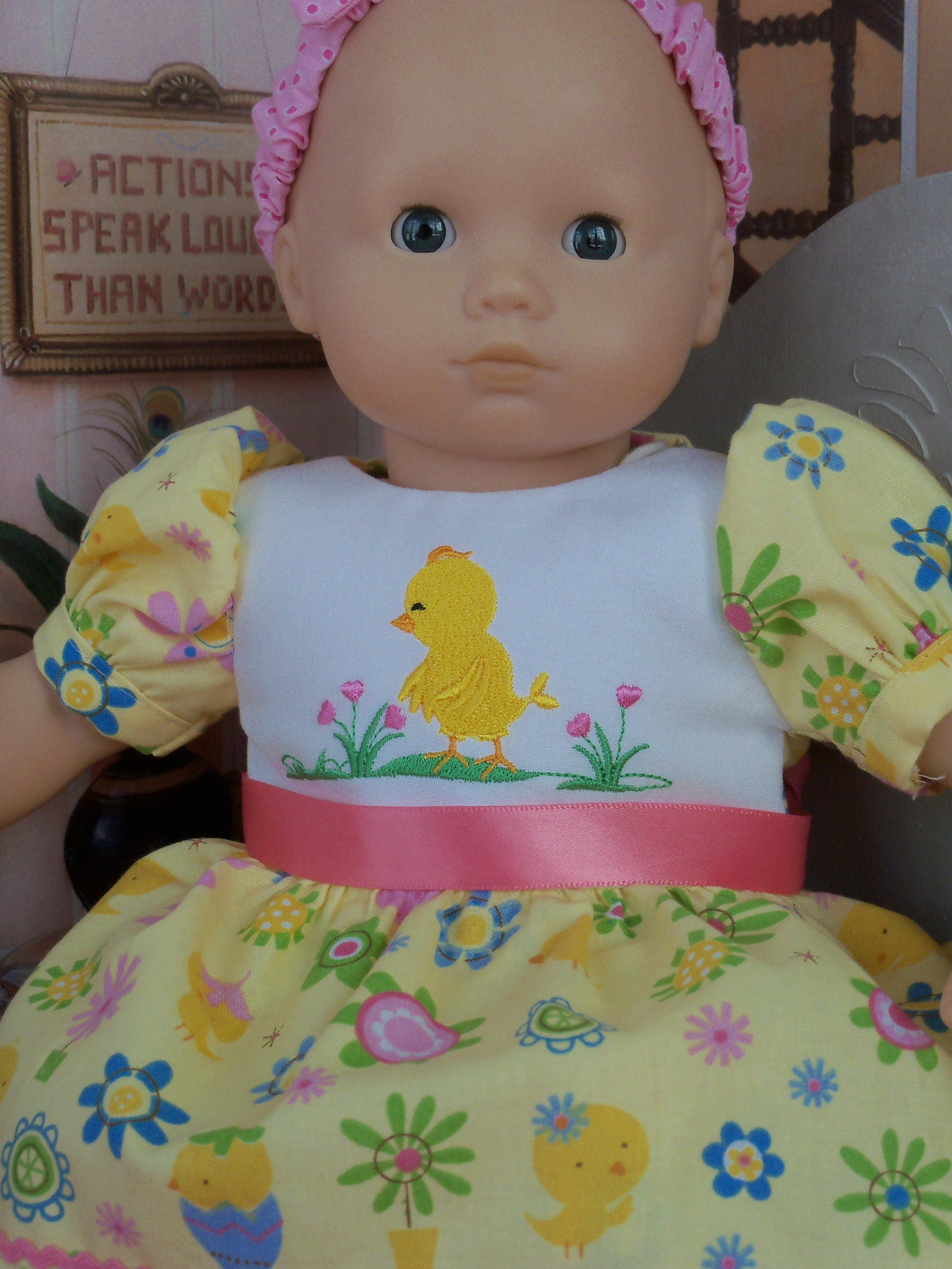 CLEARANCE SALE Fits Like Bitty Baby Doll Clothes Spring Dress and