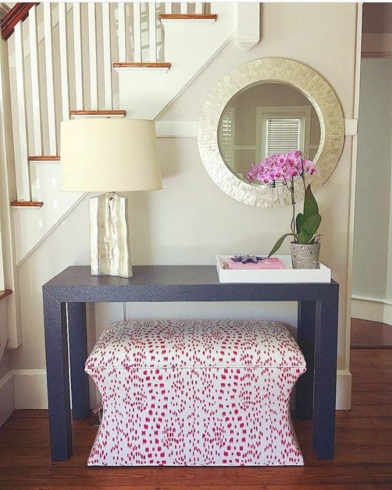 Curved STORAGE Ottoman - Extra Wide- Design Your Own