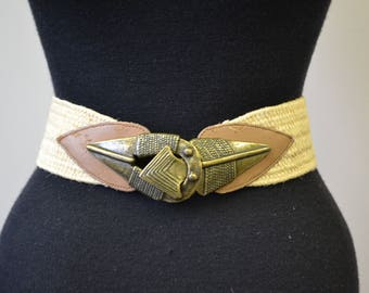 1980s Jute Belt with Toggle Buckle