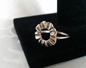 Sterling Silver Flower Ring, Sterling Silver Ring, Silver Ring, Flower Ring