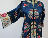 1920s Antique Chinese Embroidered Jacket Robe Set