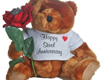 "11th ""steel"" Anniversary Teddy Bear"