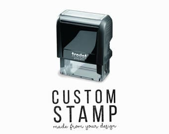 Custom Self-Inking Rubber Stamp - Your Logo, Drawing or Design - Eco-Friendly, Climate Neutral Self-Inking Stamp by Creatiate