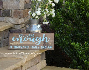 Hand Painted Wood Sign. You Are More Than Enough. Nursery Sign. Love. Baby. Nursery Decor. Home Decor. Childs Room. New Baby.