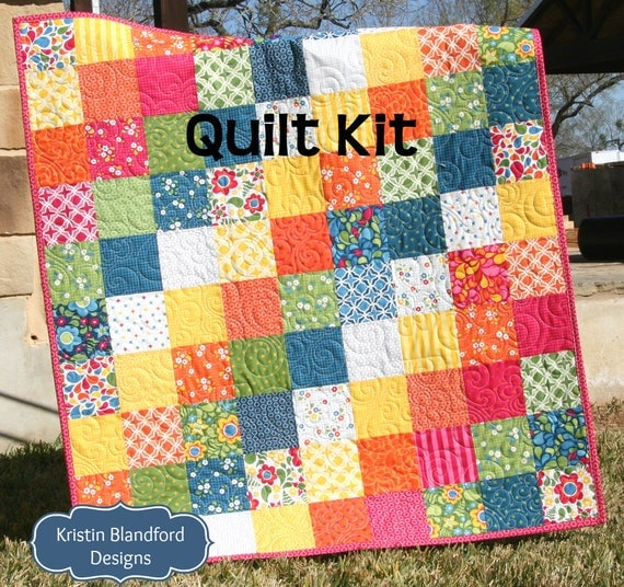 Last two quilt kit best day ever moda fabrics red blue like this item solutioingenieria Images