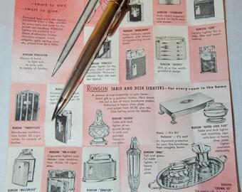 "Ronson Rhodium Plated ""Penciliter,"" Rhodium Plated Ronson ""Penciliter,"" Combination Mechanical Pencil and Lighter"