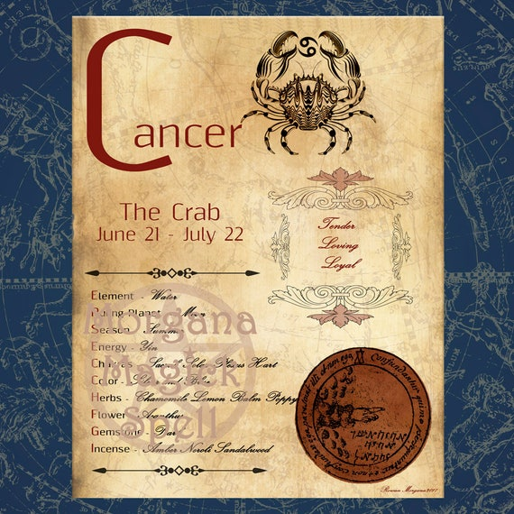 CANCER ZODIAC, Digital Download