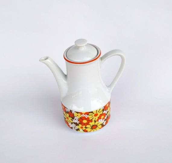 Vintage 1970's Retro Groovy Flower Teapot made in Japan