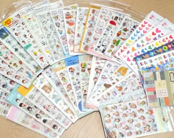 3 pack Random Assortment Deco Stickers (more than 12 sheets)