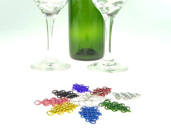 Chainmaille Wine Glass Charms Perfect For A Renaissance Wedding