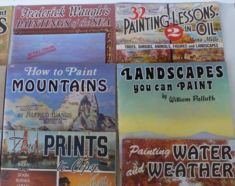 vintage books, Walter Foster, How To Draw and Paint ,set of 18, free shipping, from Diz Has Neat Stuff