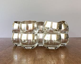 Five (5) Vintage Dorothy Thorpe Small Roly Poly Silver Band Glasses - Ten Available