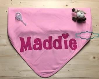 Personalized Baby Blanket, Personalized Baby Girl Blanket, Pink Baby Blanket, Personalized Baby Gift,Newborn Blanket,Baby Shower Gift,Maddie