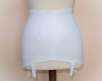 Vintage Ivory Support Girdle, Shapwear, Garter Belt. UK 8/10.