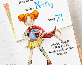 Birthday Party Invitations - Our Superhero (Style 13441)