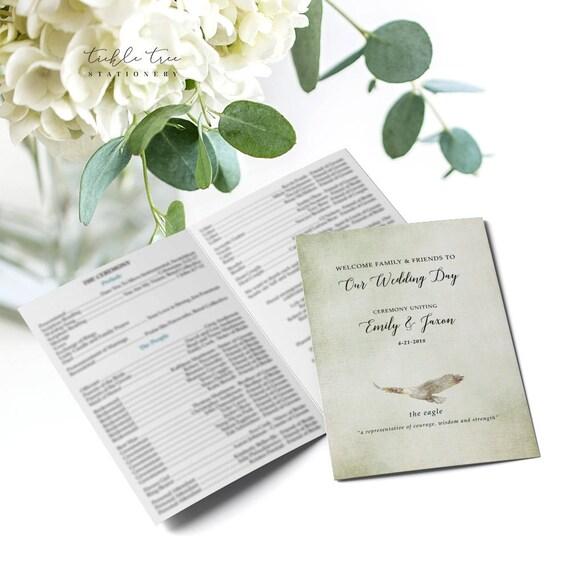 Folded Wedding Programs - Woodlands Wedding (Style 13768)