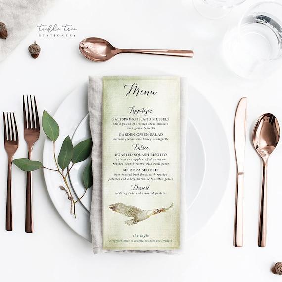 Menu Cards - Woodlands Wedding (Style 13768)