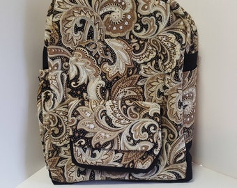Tan Paisley Young Ladys Backpack