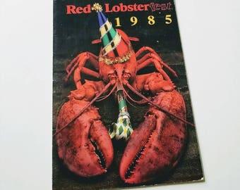 Vintage Red Lobster menu / seafood menu / collectible ephemera / souvenir memorabilia / advertising ad advertisement / Lobsterfest 1985