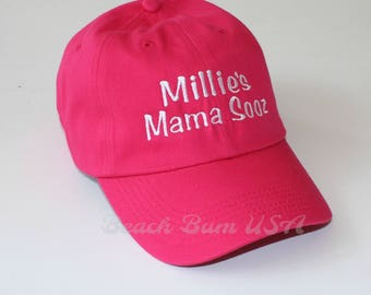 Baseball Cap Personalized Custom Embroidery Hat bio washed Unisex Adult Size, Youth Size noted with Youth in front of color name