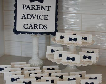 Bow Tie Baby Shower Advice Cards, Littleman, You Pick The Colors, Oh Boy, Lil Man, Bowtie Baby Shower, Little Man,
