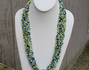 Tribal-Inspired Beaded Statement Necklace