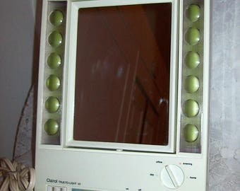 Vintage Lighted Regular & Magnifying Makeup Mirror Clairol True to Light VII Only 24 USD