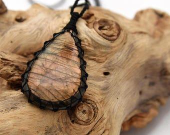 Large Labradorite Necklace For Women, Healing Crystal Necklace For Men, Gift Idea, Labradorite Pendant Necklace Iridescent Gemstone Necklace