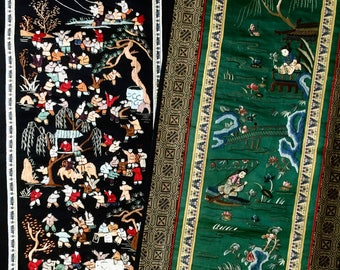 Japanese Embroidered Textiles, Silk Textiles, Asian Embroidered Textiles, Japanese Decor, Oriental Art, Bohemian Home, Textile Art