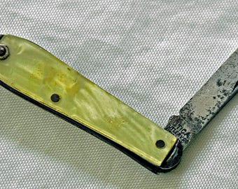 Vintage 1940-50s UTICA CUTLERY KEY Ring Knife, Utica, N Y