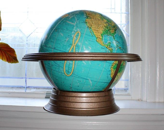 "Cram's Physical Political Terrestrial Globe 12"" Vintage Atomic Age"
