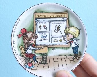 vintage 1966 Joan Walsh Anglund mini plate / german / children / nature studies