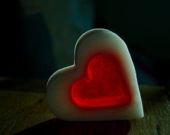Heart shaped Soap, Rose Scented, Handmade by Greeneternity