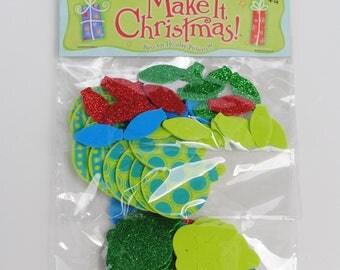 Christmas Foam Craft Embellishments - Foam Ornaments - Foam Stockings - Foam Christmas Trees - Foam Stars - Foam Candy Canes - Party Craft