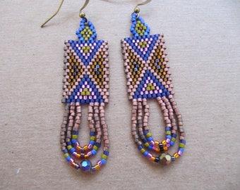 Metallic chevron earrings