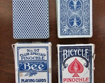Bee Pinochle No 97 Club Special and Bicycle Pinochle Playing Cards 1940-1965