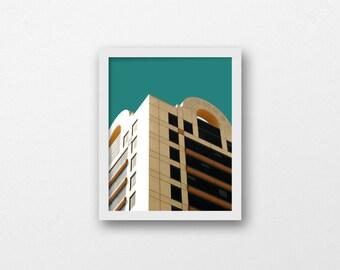 Bright dorm decor | printable wall art | colorful modern art print | Pop art photo | scandinavian print | architecture photo | urban art