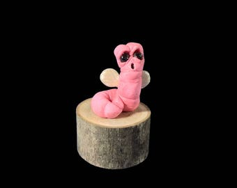 Vormy The Nemertean, a Hand Made OOAK Original Polymer Clay monster Figurine