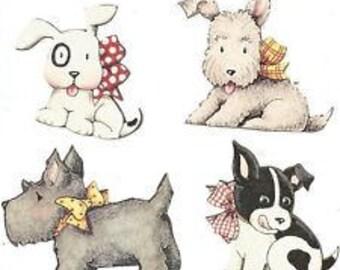 Shop Closing Sale!  Mary Engelbreit Dogs Wallies Wallpaper Cutouts -- 12921