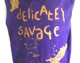 BURBO 'Delicate Savage' Luxury Punk Tee
