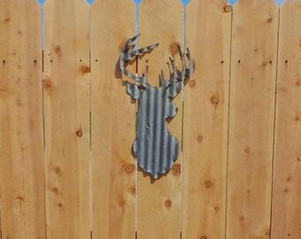 Corrugated Metal Deer Head