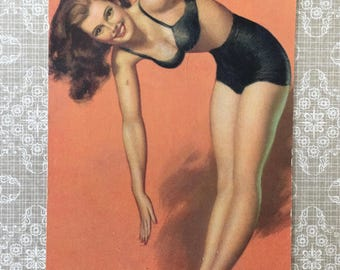 Love This 1940's Pin-Up Girl Card by Mutoscope