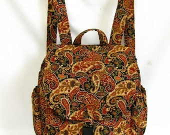Small backpack- Paisley cotton