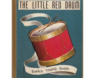 French picture book, The Little Red Drum, vintage France, musical instrument, drummer boy, vintage French, music book, orchestra, band