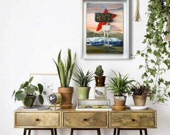 peintures l 39 huile etsy fr. Black Bedroom Furniture Sets. Home Design Ideas