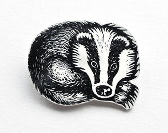 Badger charm, a set of fifteen, one design