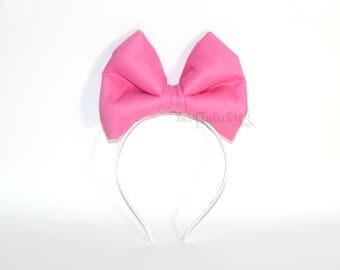 Daisy Bow || Daisy Duck Bow || Big Pink Bow || Dark Pink Bow || by Born Tutu Rock