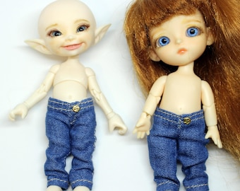 BJD doll clothes Jeans pants for Lati white and RealPuki